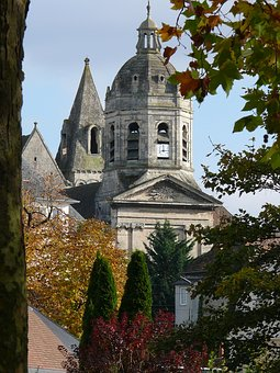 Church, Bell Tower, Heritage, France, Sky, Pierre