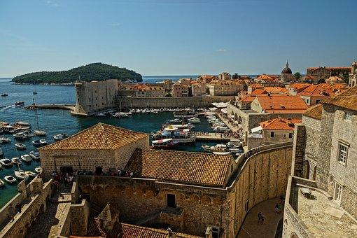 Dubrovnik, The Walls, City, Old, Croatia, Tour
