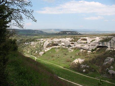 Crimea, View From Eski Kermen, Spring