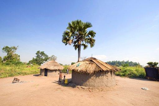 Hut, Africa, Northern Uganda, Village, Rural, Culture