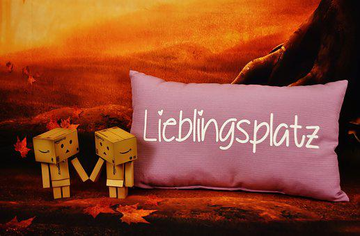 Love, Danbo, Favorite Place, Pillow, Valentine's Day