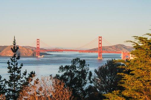 Golden Gate, Bridge, Golden Gate Bridge, Golden