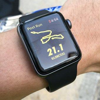 Watch, Running, Half-marathon, Half Marathon, Run, Map
