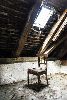 Window, Chair, Attic, House, Old, Old House, Building