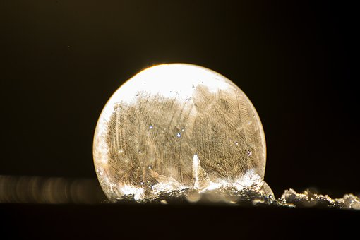 Soap Bubble, Ice, Seifenblase Frozen, Frozen Bubble