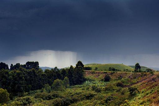 Rain, Africa, Fort Portal, Landscape, Travel, Tourism