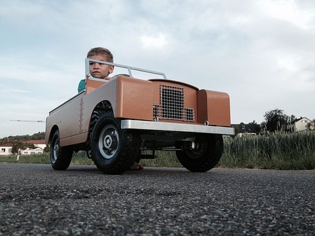 Landrover, Adventure, Model, Safari, Boy, Road