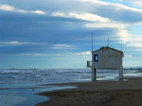 Sea, Beach, France, South Of France, Mood, Empty Beach