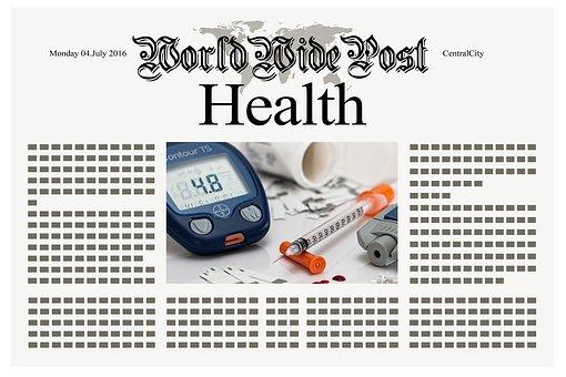 Newspaper, News, Health, Syringe, Diabetes, Insulin
