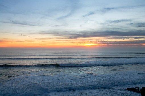 Pacific Ocean, Sunset, Ocean, Pacific, Landscape, Water