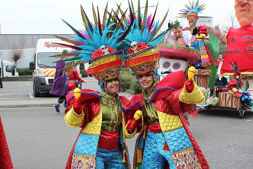 Aalst, Mask, Costume, Group, Parade, Carnival
