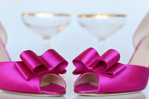 Pink Shoes, Wedding Shoes, Wedding, Pink, Bride