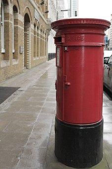 Red, Post Box, English, Icon