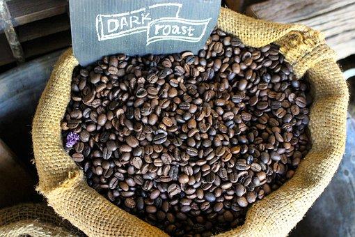 Coffee Beans, Sack, Coffee, Brown, Caffeine, Cafe