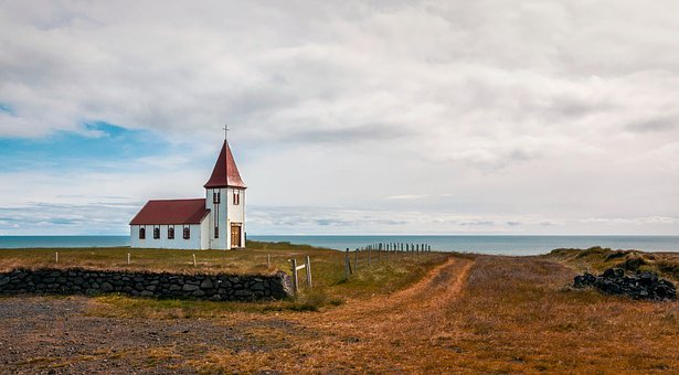 Church, Sea, Iceland, Mood, Autumn, Lonely, Quiet