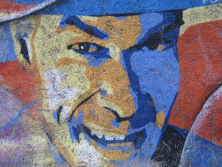 Graffiti, Portrait, Man, Smile, Person, Attractive, Guy