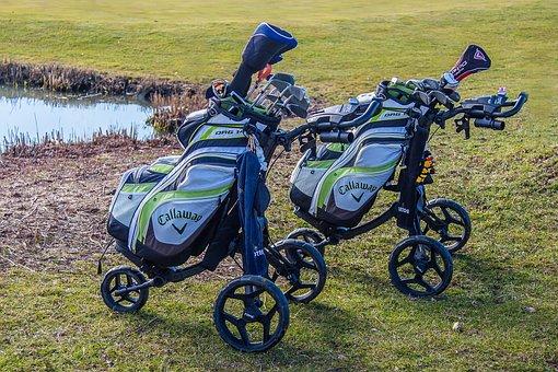 Golf, Caddy, Golf Carts, Golf Clubs, Golfers, Sport