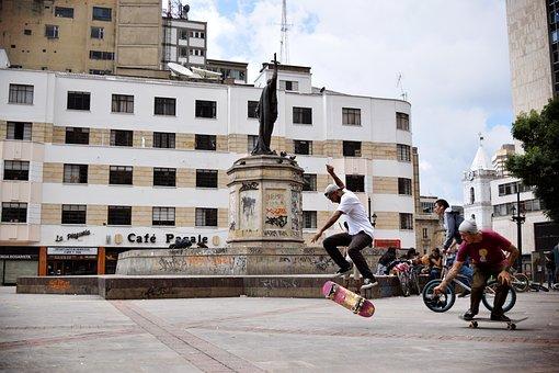 Skate, Bogota, Colombia, Cundinamarca, City, Sun