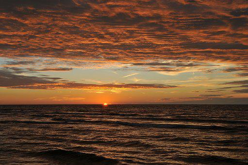 Sunset, The Baltic Sea, Evening