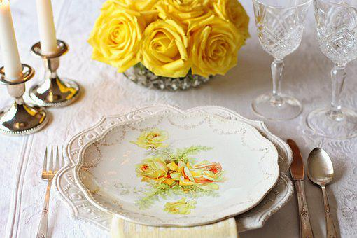 Table Setting, Place Setting, Vintage, Vintage China