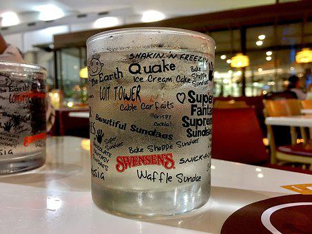 Glass, Water, Drink, Coffee Shop, Holidays, Ice