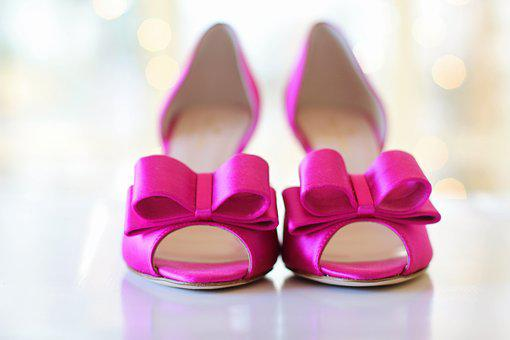 Pink Shoes, Wedding Shoes, Bows, Wedding, Pink, Bride