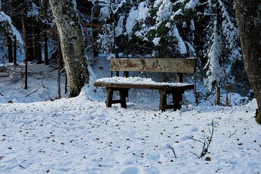 Snow, Landscape, Morgenstimmung, Mountains, Winter