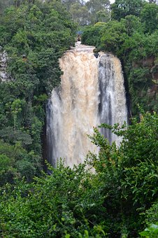 Kenya, Africa, Waterfall, Nature, Park, Wildlife, Wild