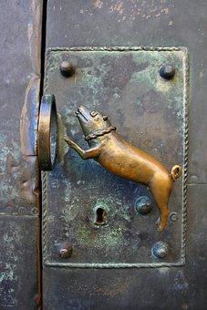 Door Handle, Jack, Metal, Door Lock, Antique