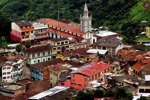 Zaruma, Ecuador, City, Architecture, Church, Colorful