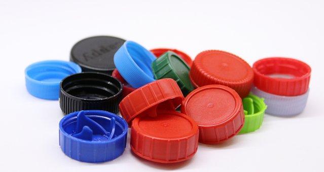 Plastic Screw Caps, Plastic, Garbage, Artificial, Waste