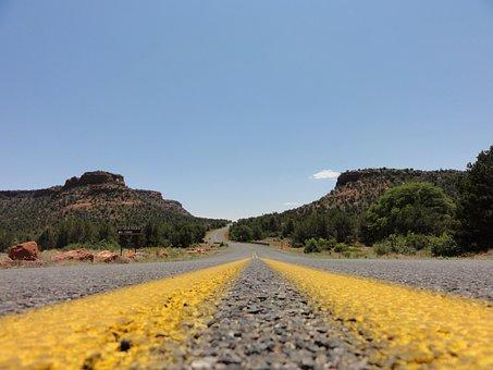 Road, America, Usa, Asphalt, Straight