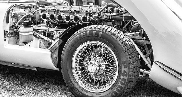 Jaguar, Car, Engine, Pirelli, Machine, Auto, Mechanical