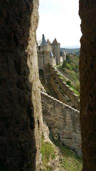 Carcasonne, Castle, Monument, Architecture