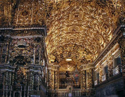 Bahia, Church, Sao Francisco, Doré, Opulence