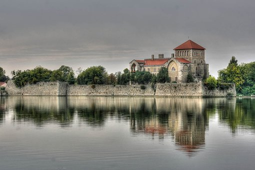Tata, Castle, Lake, Coming From