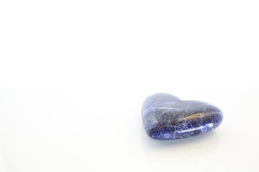 Blue Heart, Gem Stone Heart, Gem, Stone, Heart, Crystal