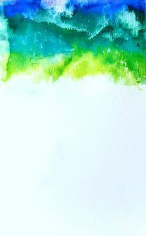 Watercolor, Blue, Green, Indigo, Drip, Splatter