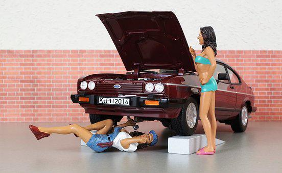 Model Car, Ford, Ford Capri, Model, Auto, Oldtimer