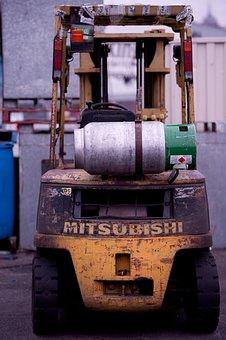 Forklift, Mitsubishi Forklift, Fork, Vehicle