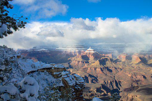 Grand Canyon Winter, Girl, Grand, Canyon, National