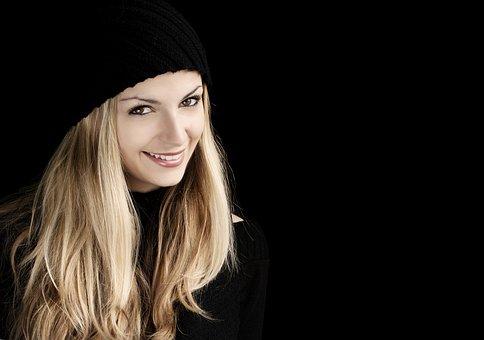 Pretty, Girl, Smiling, Happy, Woman, Face, Person