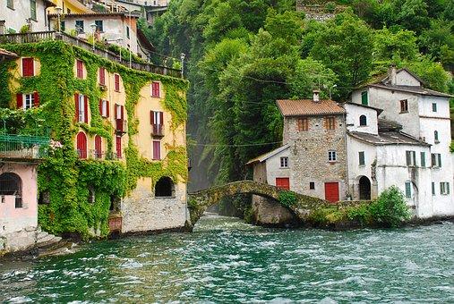 Lake Como, Lago Di Como, Italy, Village, Scenery