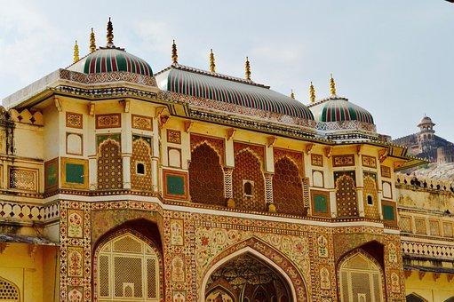Amer Fort, Jaipur, Rajasthan, India, Architecture