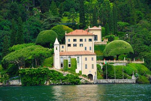 Lago Di Como, Italy, Italian, Lake, Como, Villa, Europe