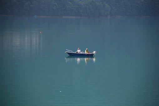 Lake, Boat, Fishing, Sport, Fun, Water, Molveno