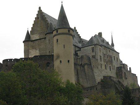 Vianden, Castle, Luxembourg, Fortress, Knight's Castle
