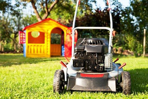 Lawn Mower, Rush, Lawn Mowing, Garden, Green, Mow