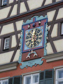 Clock, Old House, Ellwangen