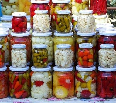 Pickled Vegetables, Pickles, Food